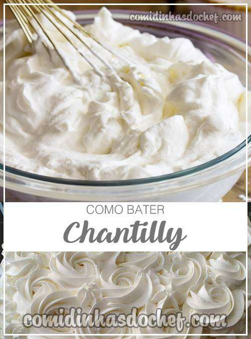 Como Bater Chantilly